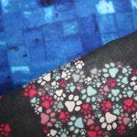 Blue Squares / Paw Print