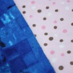 Blue Square / Pink Polka Dot